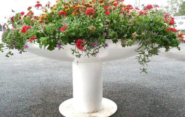 Jardinou circulaire blanc