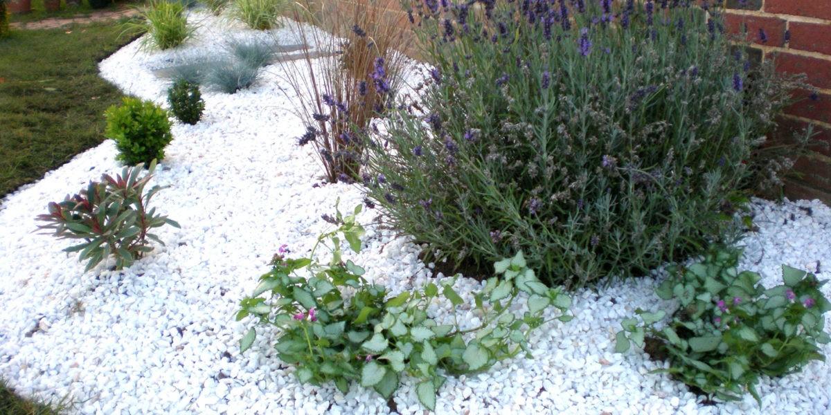Préparation du sol pour créer un jardin sur gravier