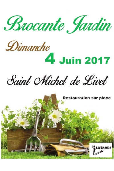 Brocante jardin de Saint-Michel-de-Livet