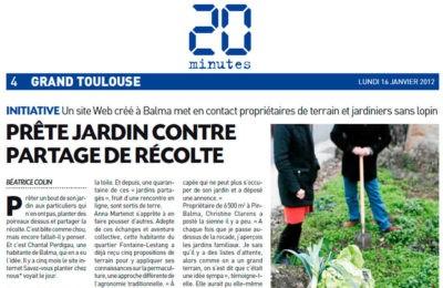 20 min - Prête jardin contre partage des récoltes
