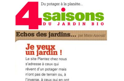 Les 4 Saisons du Jardin Bio - Je veux un jardin !
