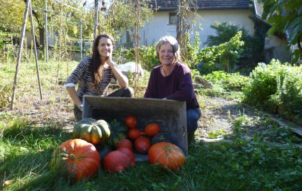 Près de Chambéry, Aline prête son jardin à Sylvie