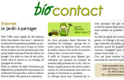 Bio Contact - Le jardin à partager