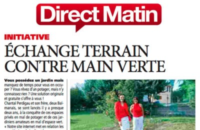 Direct Matin - Échange terrain contre main verte