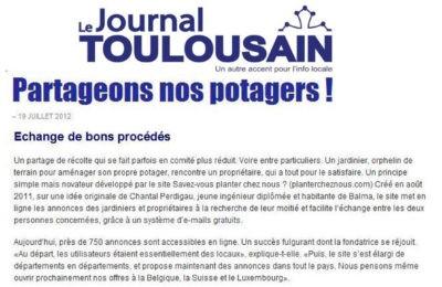 Le Journal Toulousain - Partageons nos jardins !