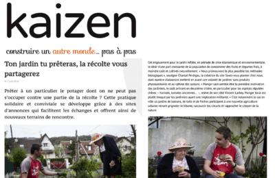 Kaizen - Ton jardin tu prêteras, la récolte vous partagerez
