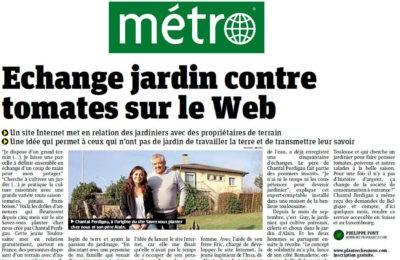 Métro Journal - Échange jardin contre tomates sur le web
