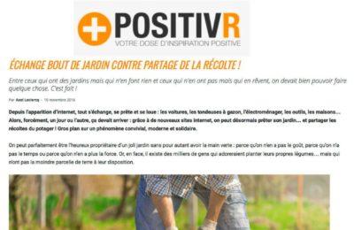 PositivR - Échange bout de jardin contre partage de la récolte