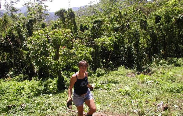 En Guadeloupe, Natacha prête son jardin tropical