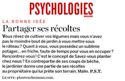 Psychologie Magazine - Partager ses récoltes