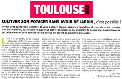 Toulouse Mag - Cultiver son potager sans avoir de jardin, c'est possible !
