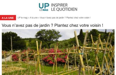 Up le Mag - Vous n'avez pas de jardin ? Plantez chez votre voisin !
