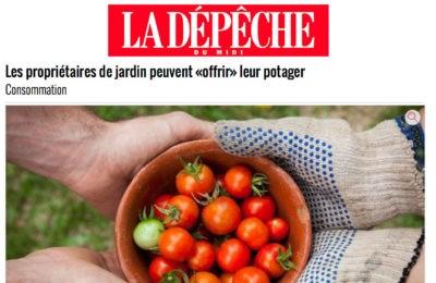 La Dépêche - Les propriétaires de jardin peuvent «offrir» leur potager
