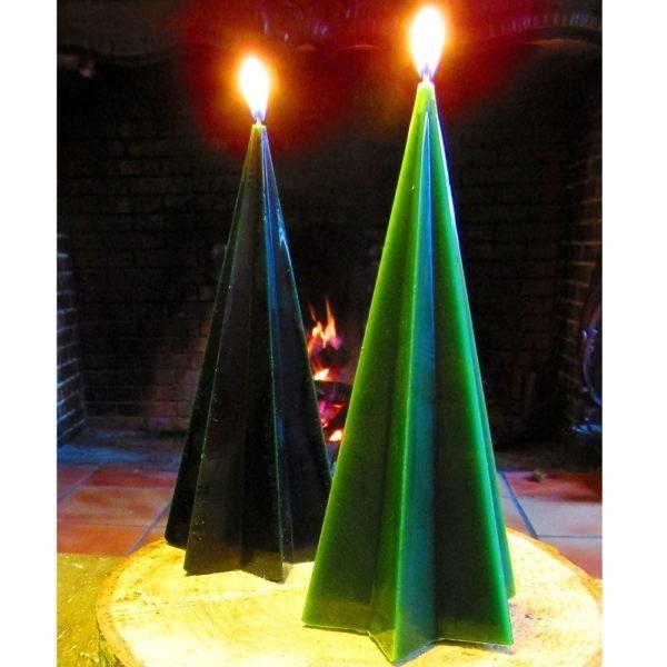 Bougie de Noël étoilée