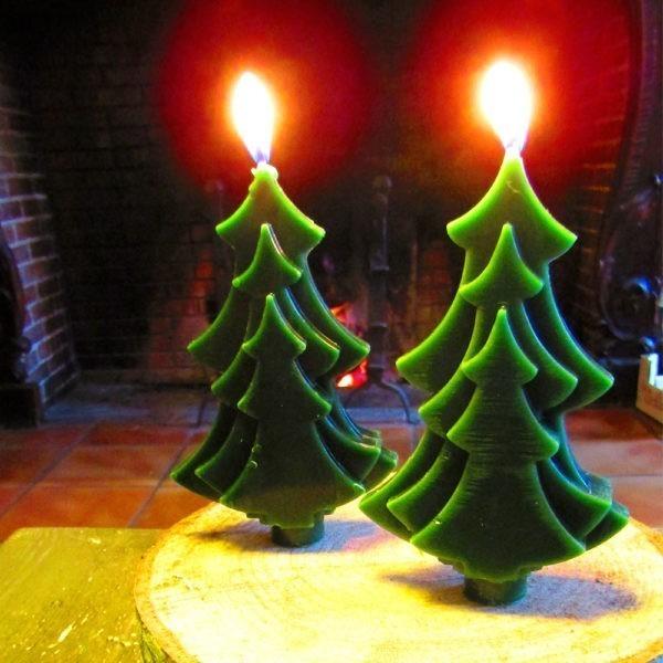 Bougie de Noël bio