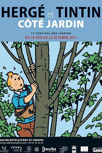 Hergé et Tintin côté jardin !