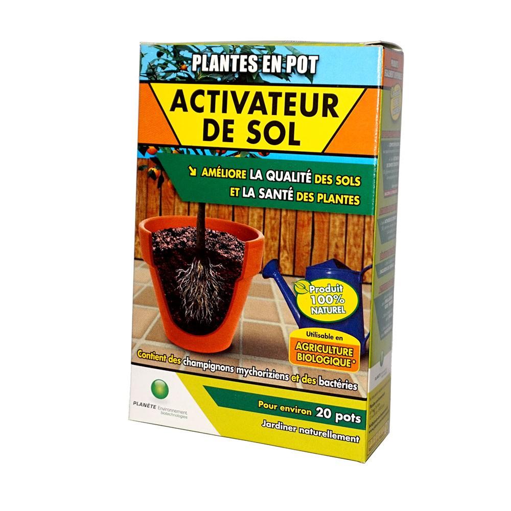 Activateur de sol pour plantes en pot