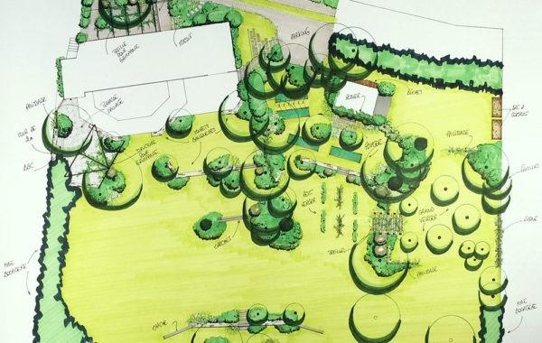 Plan Atelier au fond du jardin