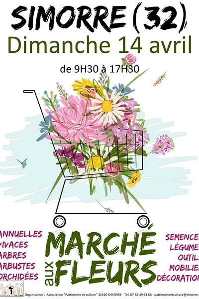 Marché aux fleurs de Simorre