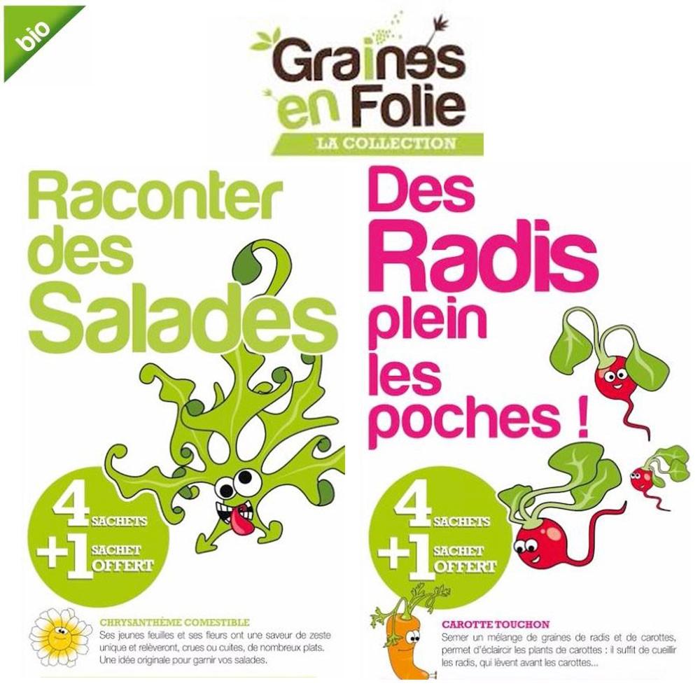 Coffret graines de radis et de salades bio