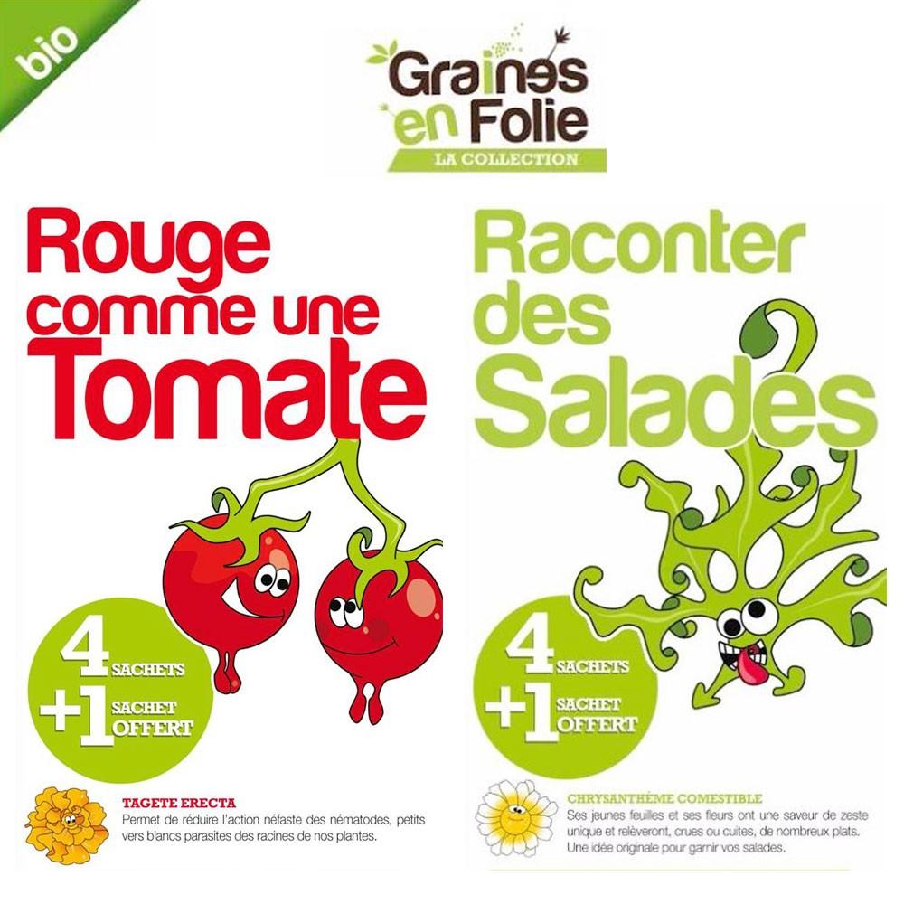 Coffret graines de tomates et de salades bio