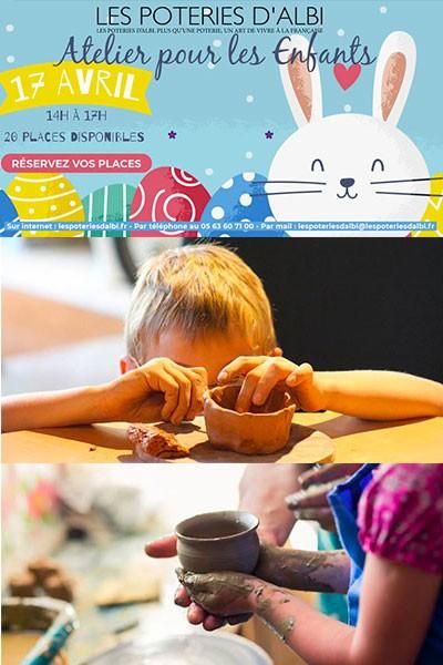 Atelier de poterie pour les enfants