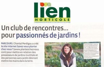 Lien Horticole - Un club de rencontres...pour passionnés de jardin !