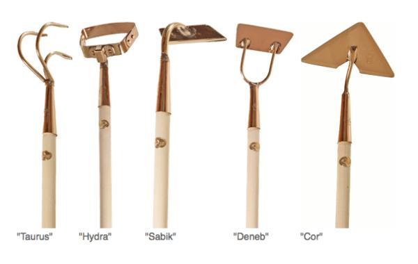 Outils de jardinage en cuivre
