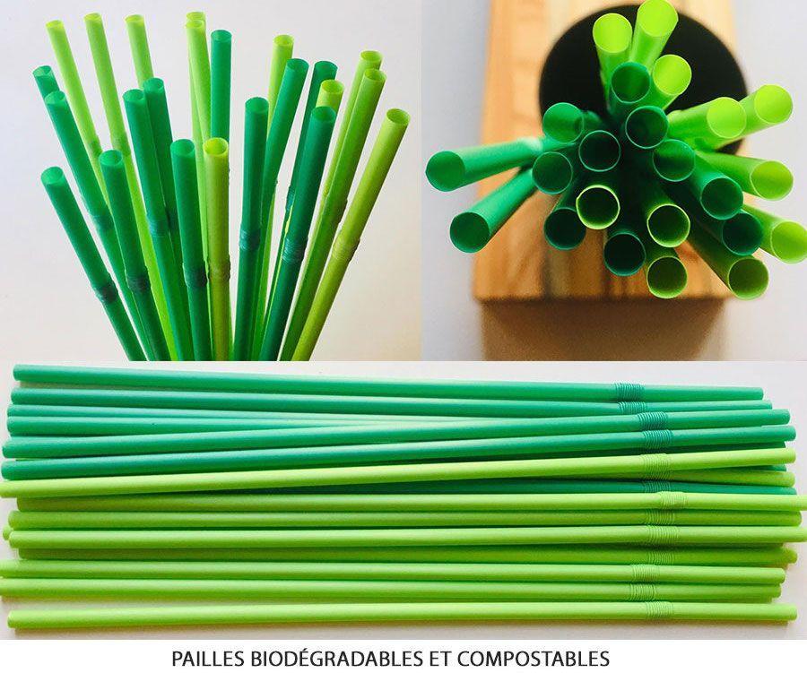 Pailles biodégradables et compostables Rosobren