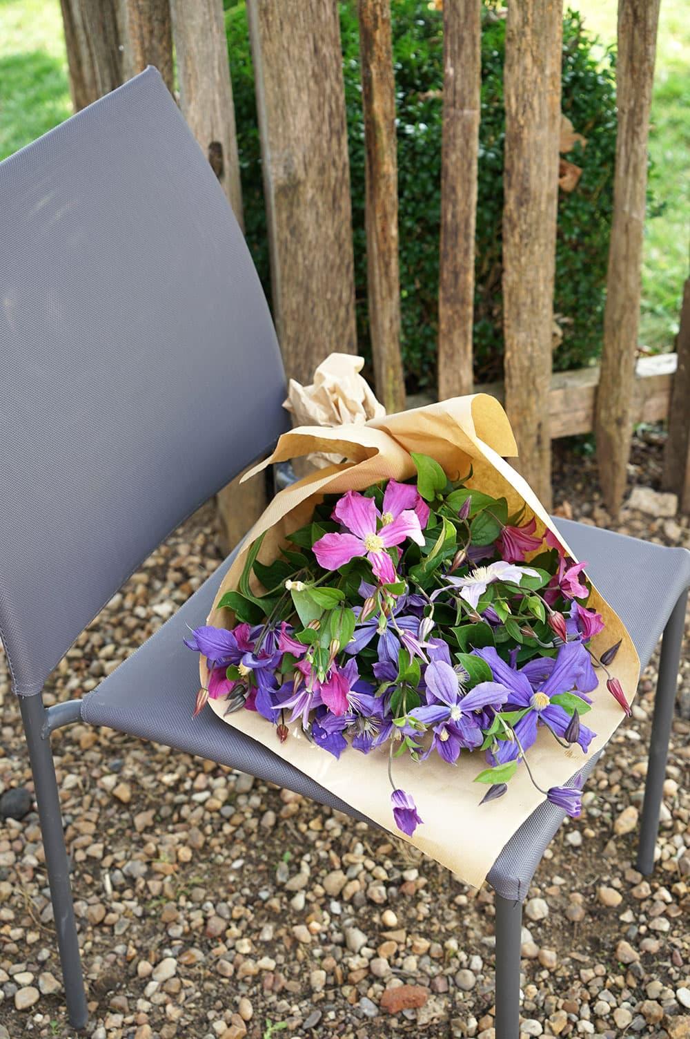 Bouquet de clématites
