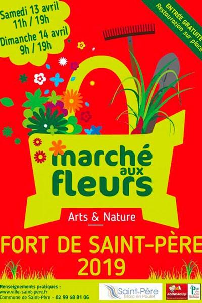 Marché aux fleurs au Fort de Saint-Père