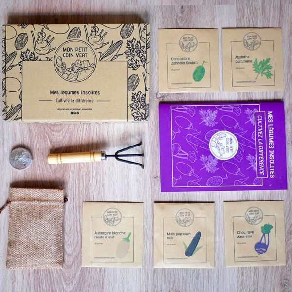 Contenu du Kit jardinage Légumes insolites