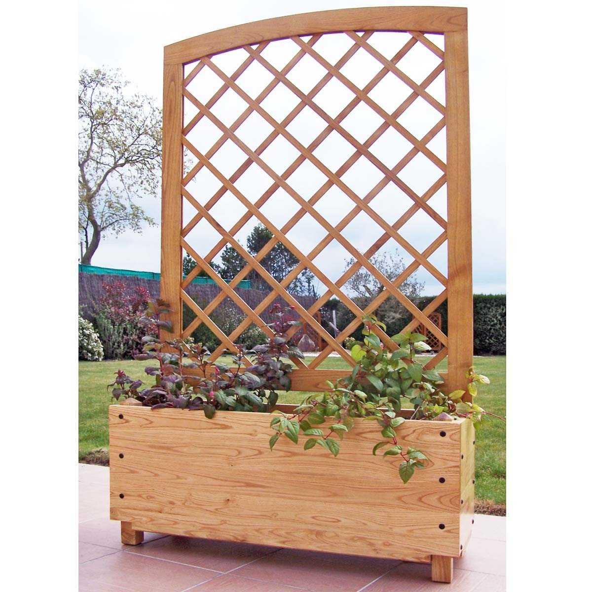 Fabriquer Treillis Bois Pour Plantes Grimpantes jardinière claustra en châtaignier