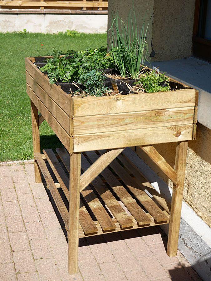 Potager surélevé pour jardiner sans mal de dos