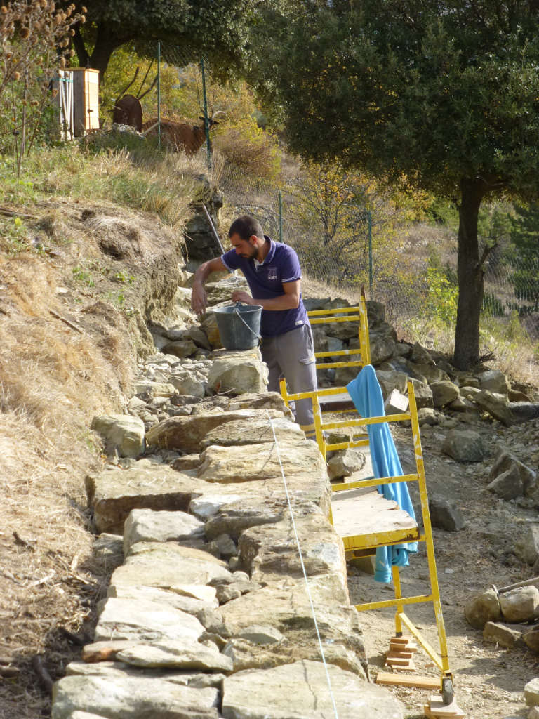 Restauration des murets en pierres