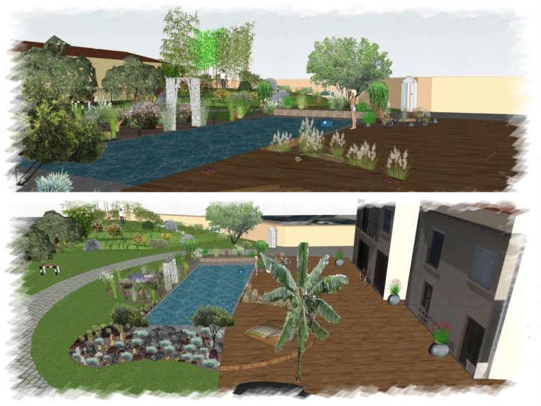 Projet aménagement paysager