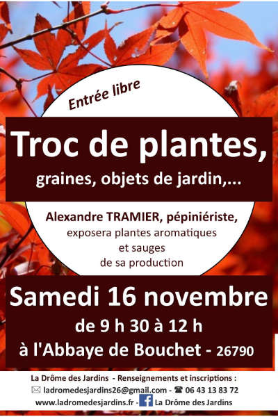 Troc de Plantes à l'Abbaye de Bouchet