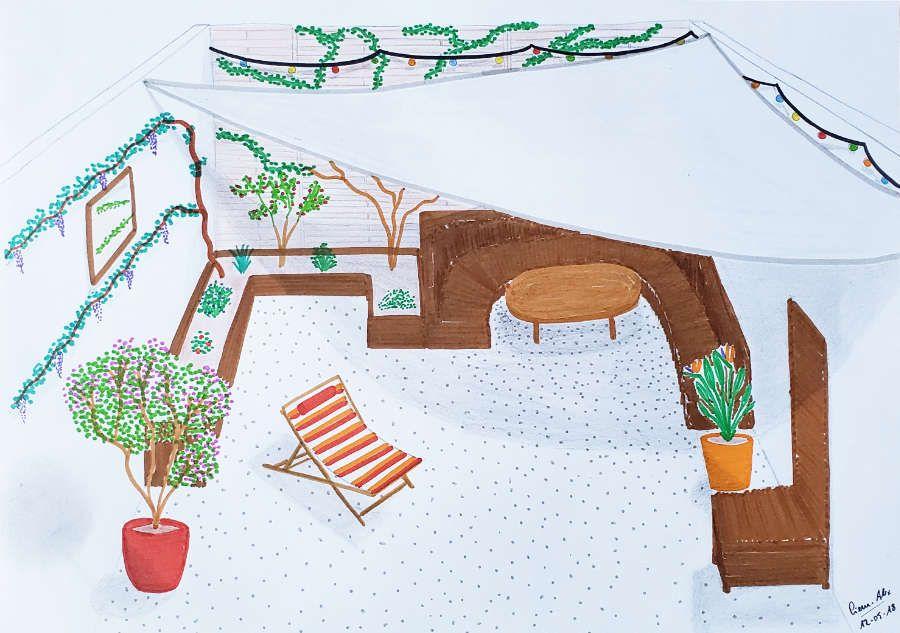 Proposition illustrée des Jardins Bienveillants