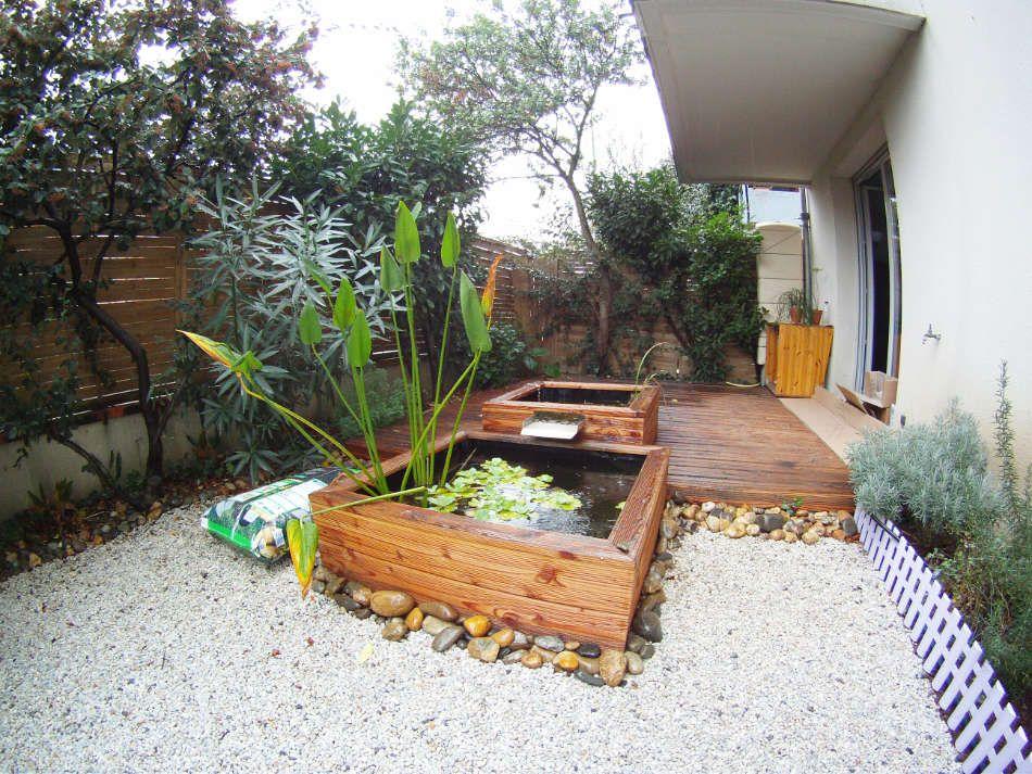 Terrasse et bassins en bois