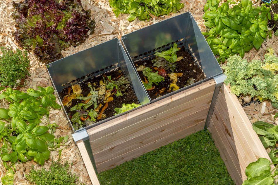 Colonne de compostage du Keyhole garden