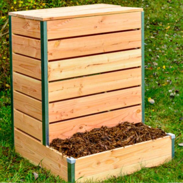 Composteur en bois à accès direct