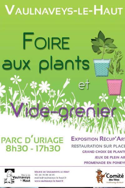 Foire aux plants de Vaulnaveys-le-Haut