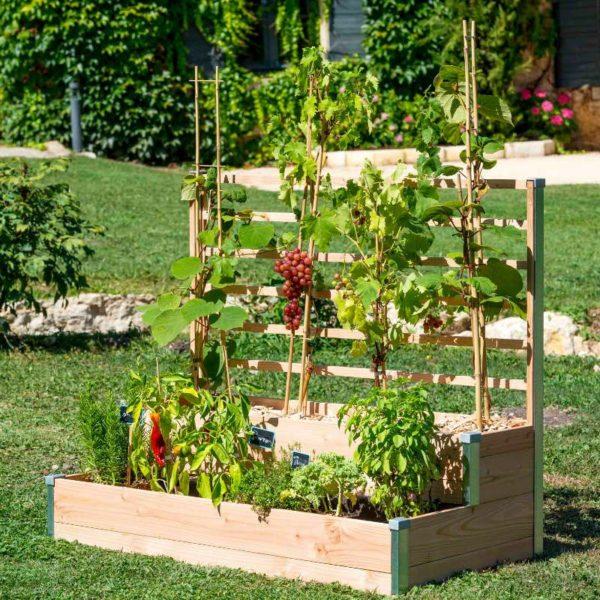 Jardinière potagère en bois