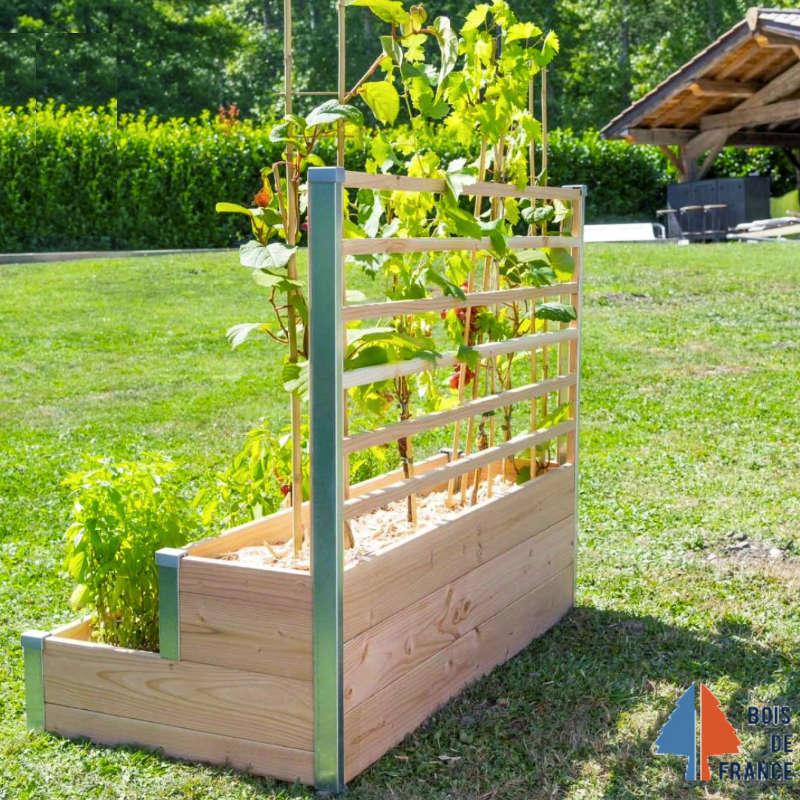 Jardiniere Potagere En Bois Avec Treillis Boutique Du Jardin