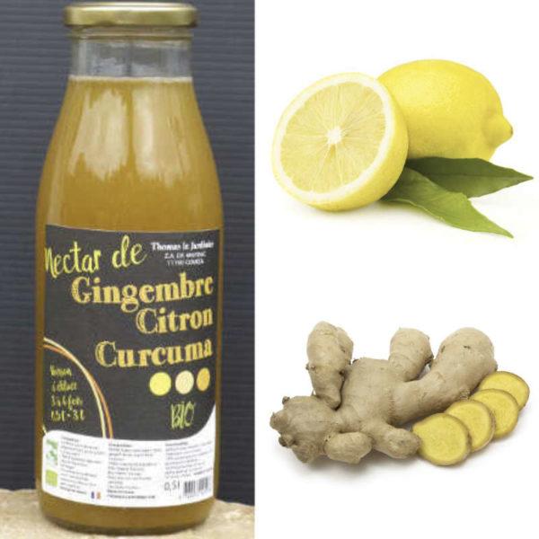 Citron, gingembre et curcuma