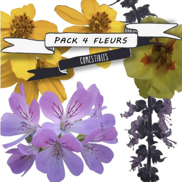 Pack fleurs comestibles