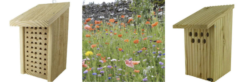 Abris, nichoirs et mélange fleuri pour attirer les auxiliaires