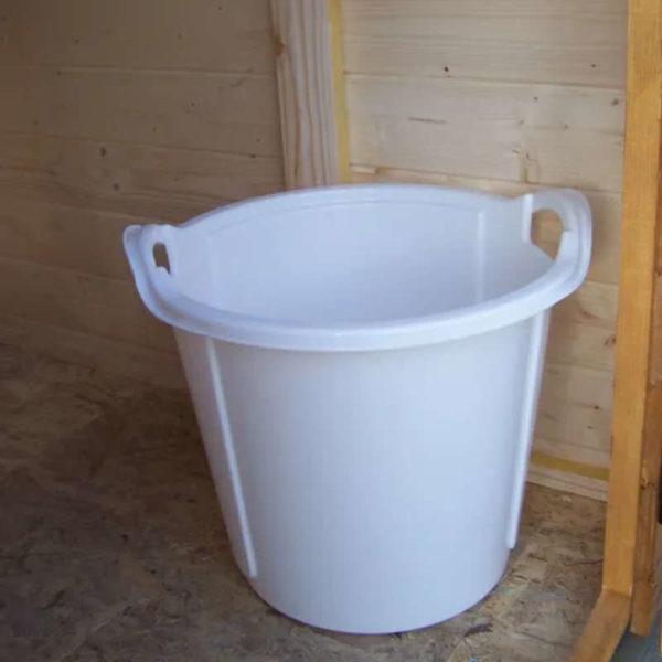 Seau pour toilettes sèches