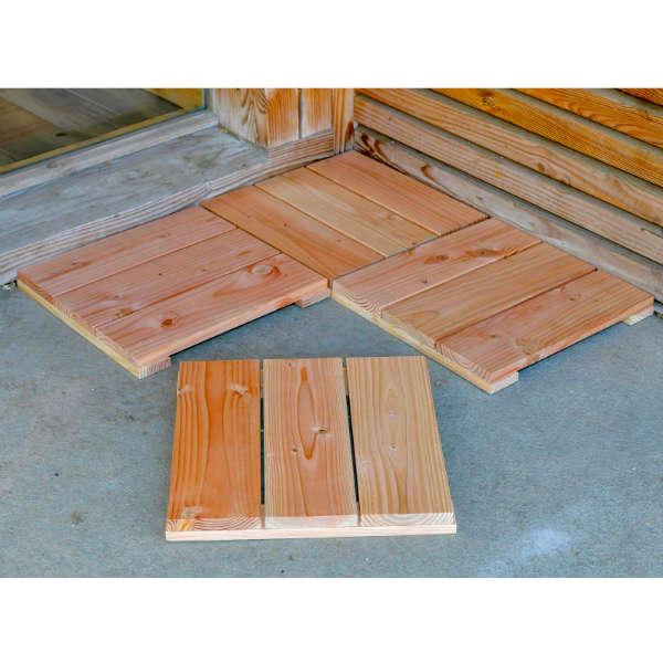 Dalles en bois pour jardin