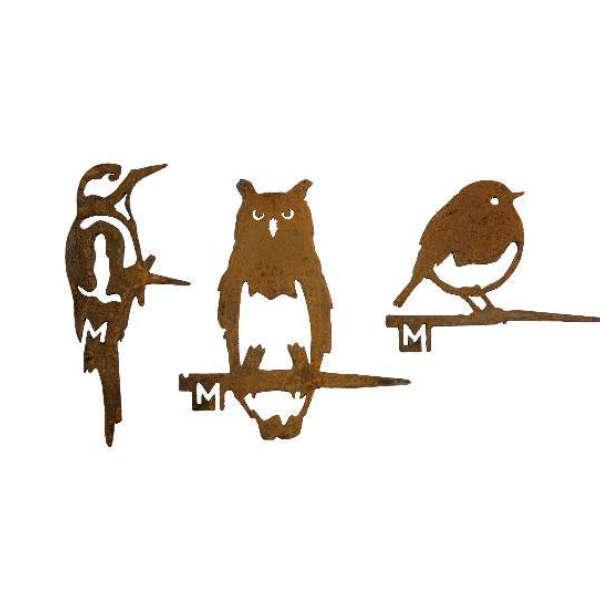 Oiseaux en métal